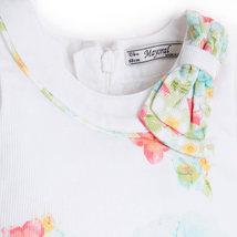 Mayoral Baby Girl 3M-24M Aquamarine/white Floral Print A-line Cotton Dress    image 4