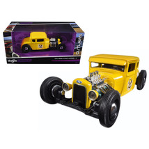 1929 Ford Model A Yellow #2 Outlaws 1/24 Diecast Model Car by Maisto 31354Y - $30.60