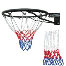 Red White Blue Basketball Mesh Net Nylon Hoop Goal Rim Replacement Mesh Net - $5.99
