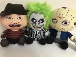 New Set Of 3 Horror Halloween Plush Toys Dolls 7'' Beetlejuice,Jason,Krueger. - $29.99