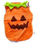 "Dog PUMPKIN JACK O' LANTERN Thanksgiving Harvest Fall Costume Vest 12"" S - $1.99"