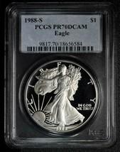 1988S Silver Eagle PR70DCAM Proof PF70 PCGS Coin Lot A 568