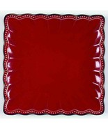 """Roscher & Co HOBNAIL RED (SQUARE) Dinner Plate 8 1/8"""" - $11.88"""