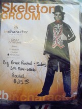 Skeleton Groom Costume /Halloween Sz XLG Cosplay Theater - $34.99