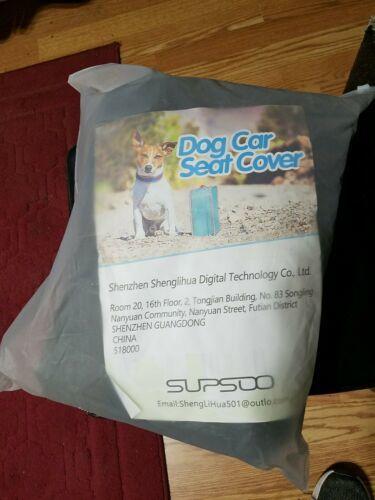 SUPSOO Dog Car Seat Cover Waterproof Durable Anti-Scratch Nonslip Back Seat Pet