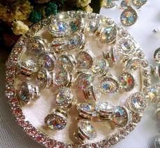 5 pcs Nail Art 3D Crystal Charm Spinner Rhinestone Glitter Manicure DIY ... - $10.19
