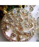 5 pcs Nail Art 3D Crystal Charm Spinner Rhinestone Glitter Manicure DIY ... - $10.91