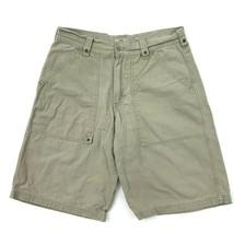 Vintage Lee Latzhose Chino Shorts Denim Leinen Mehrzweck Größe W32 Taille Herren - $18.70