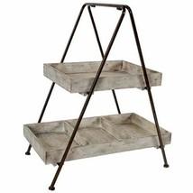 "2 Tier Wood / Metal Shelf Etagere 26"" - 32555 - $84.15"