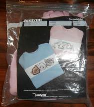 Bunnies on Pink Sweatshirt Janlynn Cross Stitch Kit Size Large - $19.34
