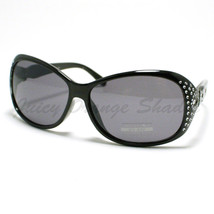 Womens Classic Designer Sunglasses Bling Shiny Decor Frame Fashion Eyewear - $8.95