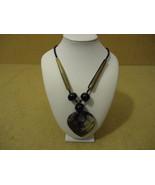 Designer Fashion Necklace 20 1/2in Drop/Dangle Female Adult Grays/Blacks - $17.84