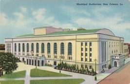 Municipal Auditorium, New Orleans, La. Vintage Linen Postcard - $9.55