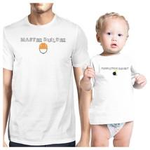 Master Builder Demolition Expert Dad and Baby Matching White Shirt - $29.99+