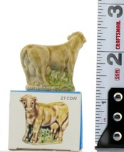 No.27 Cow Miniature Porcelain Figurine Picture Box Whimsies by Wade image 2