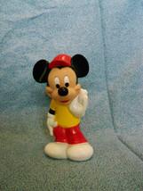 "Disney Mickey Mouse PVC Figure Squeak Toy 5 1/2"" High - $1.73"
