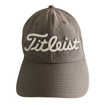 Titleist Gray Golf Pro V1 FJ FootJoy Logo Adjustable Hat Cap Flex  - $15.76