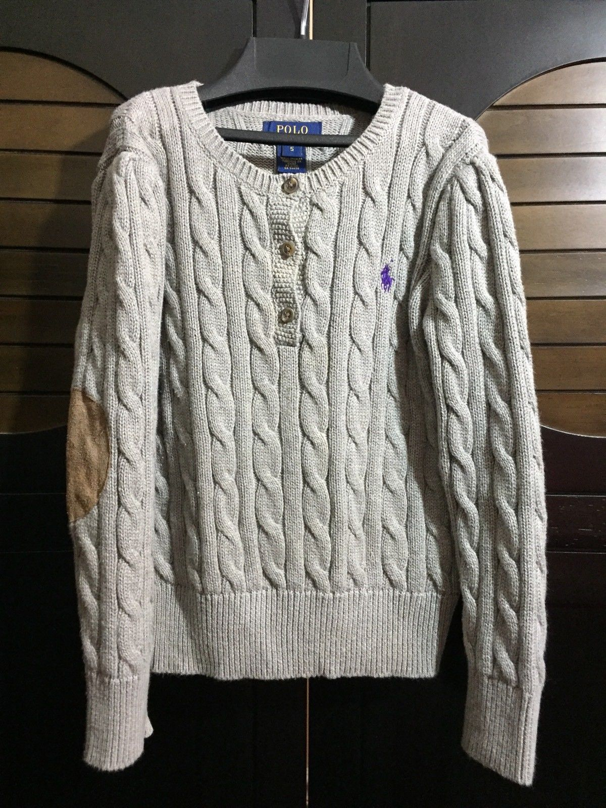 5628fd1aa4cb Polo Ralph Lauren Boys 5 Gray Sweater Cable and 50 similar items