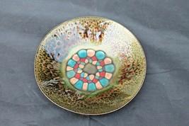 Vintage Agi Vardi Enamel Copper Israel Modernist Mid Century Art Dish - $65.00
