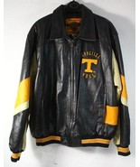 University Tennessee Vols Leather Jacket XXL black orange tan NWT mens G... - $297.77