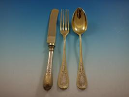German 800 Silver Flatware Dessert Set Service 18 Pieces Vintage Bird in Flight - $1,295.00
