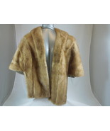 FUR SHAWL Ladies HALF STOLE Size Medium Silk Lined WOMENS WRAP - $128.69