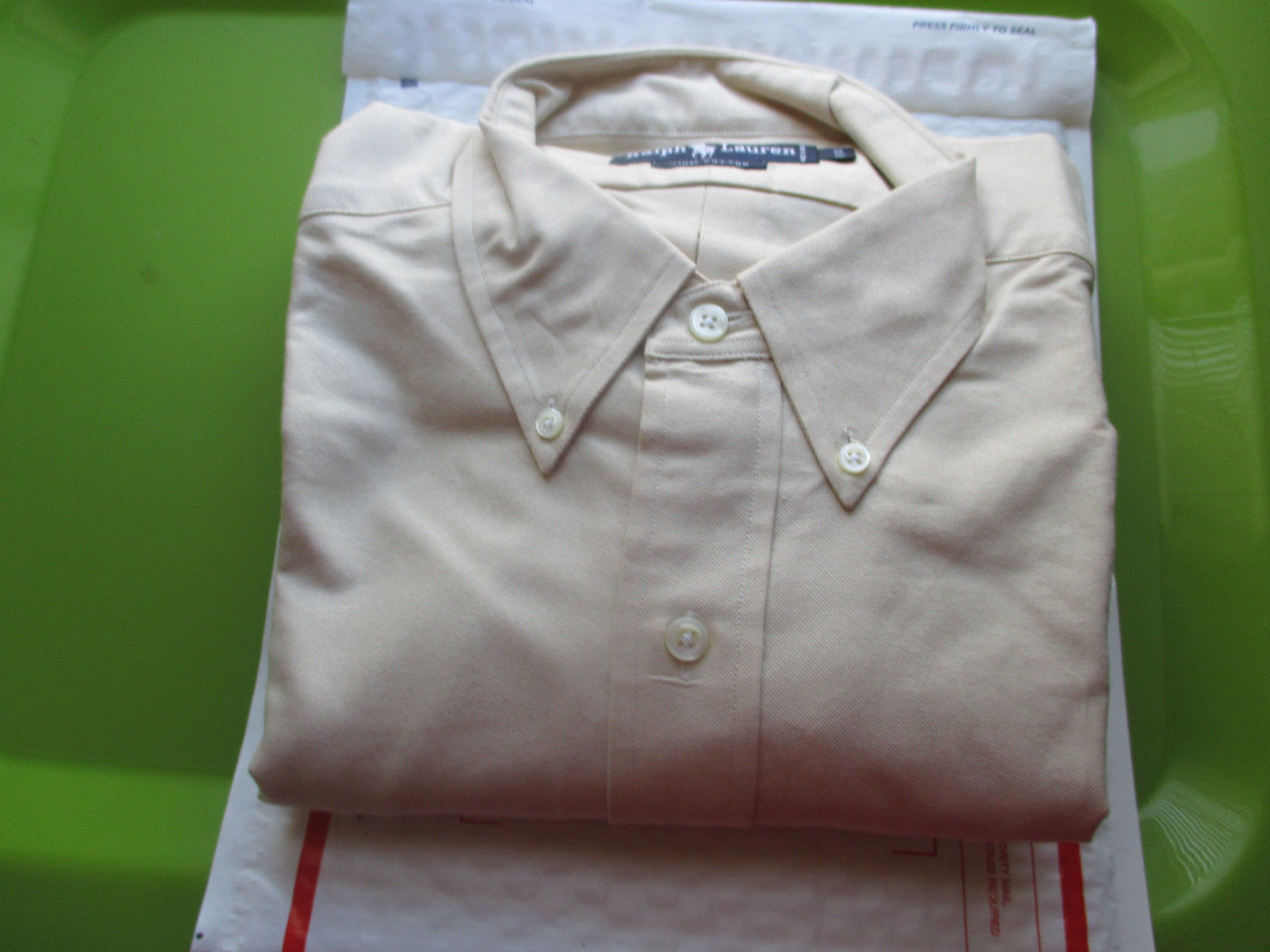 f7c05a81 S l1600. S l1600. Previous. Ralph Lauren Men's Long Sleeve button down  shirt Size 16-34 NWOT