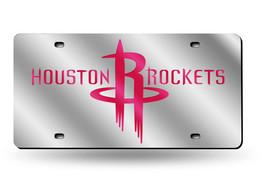 NBA Houston Rockets Laser License Plate Tag - Silver - $29.39