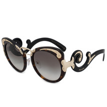 NEW PRADA MINIMAL BAROQUE SUNGLASSES GOLD DARK BROWN HAVANA PR07TS 2AU0A... - $232.52