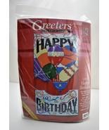 "Sugarplum Express Greeters Happy Birthday Plastic Canvas Kit - 10""x18-1/4"" - $14.20"
