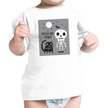 Trick-Or-Treat Skeleton Black Cat Baby White Shirt - $13.99