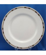 "Johnson Brothers Luncheon Plate Black Tan Laurel Pink Flowers JB45 8-7/8"" - $8.91"