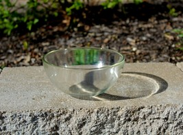 "Vintage Clear Glass Small Bowl 7x 3-1/2"" Food Prep Serving Mixing - $5.99"