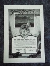 South Africa Travel Vacation - Vintage Ad of1920's #1 (Free Shipping Wor... - $7.50