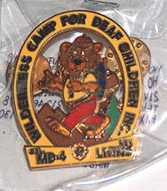 NEW Lions Club Wilderness Camp For Deaf Children CAL NEV MD-4 Hiking Pin... - $11.94