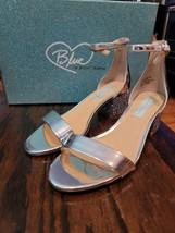 Blue by Betsey Johnson Womens Size 6.5 Jayce Heels Silver Glitter - $80.00