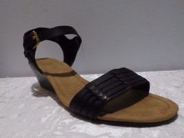 Black 79 Lauren Two Color US8 Sandals Latrice Piece B 5 Ralph Wedge qYTaxgwgf