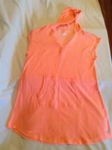 Justice cover up dress Size 12/14 swim beach orange metallic New - $22.99