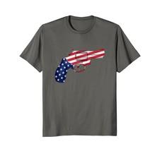Handgun Revolver T-Shirt American Flag Gun Tee - $17.99+