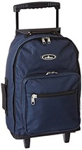 Everest Wheeled Backpack - Standard, Navy, One Size - $39.83