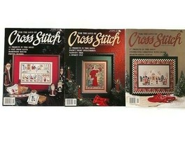 Lot of 3 For The Love Of Cross Stitch Magazines Nov 1989 1990 1991 Chris... - $13.85