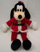 "Walt Disney VERY NICE CHRISTMAS GOOFY SANTA CLAUSE 18"" Plush STUFFED ANI... - $24.74"