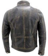 Cafe Racer Antique Retro Biker Multi Pockets Distressed Brown Leather Jacket image 4