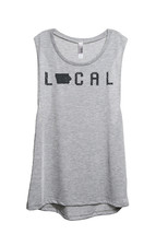 Thread Tank Local Iowa State Women's Sleeveless Muscle Tank Top Tee Sport Grey - $24.99+