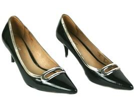 Authentic Coach New York Black Patent Leather Heels Women's Shoes EUR 36 Size - $102.90