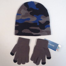 Berkshire Fashions Camo Knit Beanie & I-Tip Stretch Knit Gloves Adult On... - $18.55