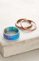 Anthropologie Painted Metals Stacking Ring Set by Sibilia Sz 6 NWT Retai... - $29.95