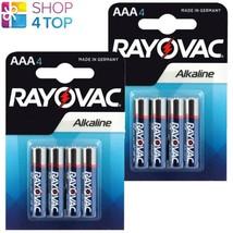 8 Rayovac Aaa LR03 M2400 Alkaline Batteries Ministilo 1.5V Micro Exp 2023 New - $8.42