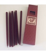 7 Williams Sonoma Cranberry Tiny Tapers Candles Christmas New In Origina... - $15.19