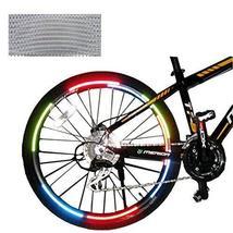PANDA SUPERSTORE [SILVER] Unique Colour 6 Pics Reflective Bike Rim Sticker Wheel
